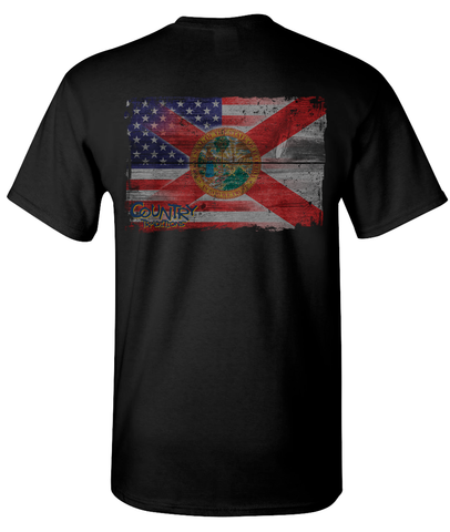 Distressed USA/State Flag - Florida