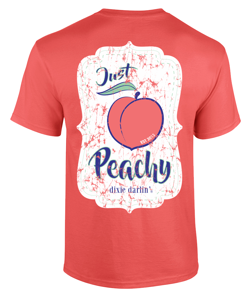 Just Peachy Tee - Coral
