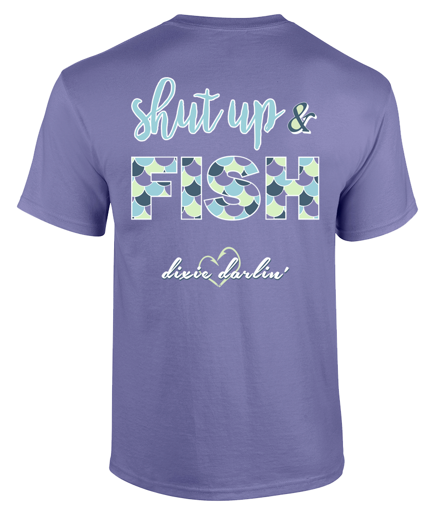 Shut Up & Fish Tee - Violet