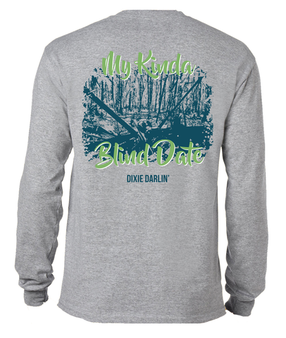 Blind Date Long Sleeve Tee - Grey