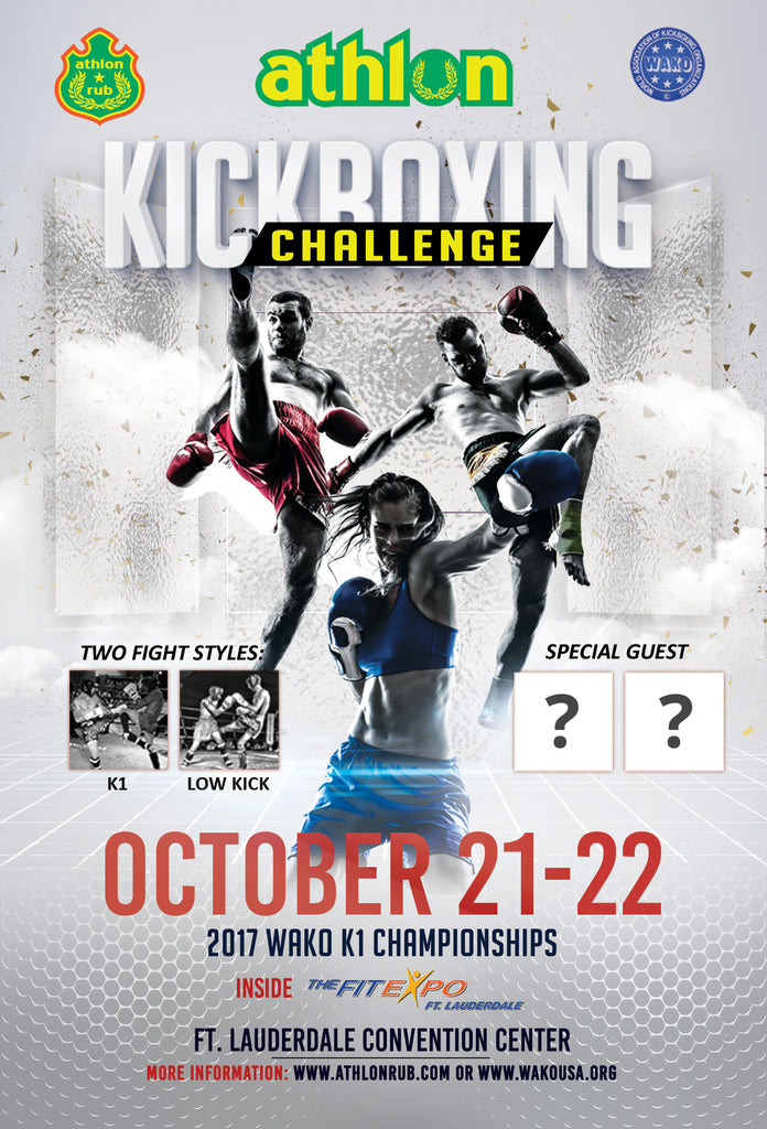 2017 Athlon Kickboxing Challenge se llevará a cabo durante TheFitExpo Ft. ¡Lauderdale!