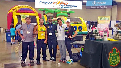 Athlon Rub hosts Warm-up and Recovery Area at The Fit Expo in the Fort Lauderdale Convention Center