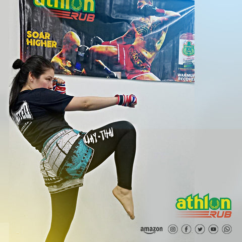 Gym Banners - Flying knee - Athlon Rub