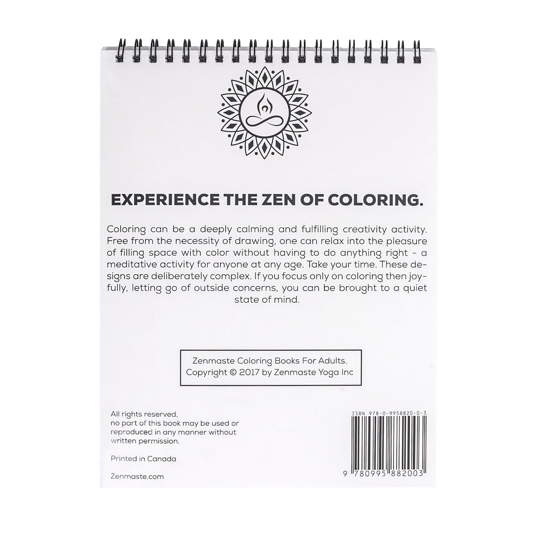zenmaste coloring book for adults