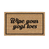 Wipe Your Yogi Toes Doormat - Zenmaste