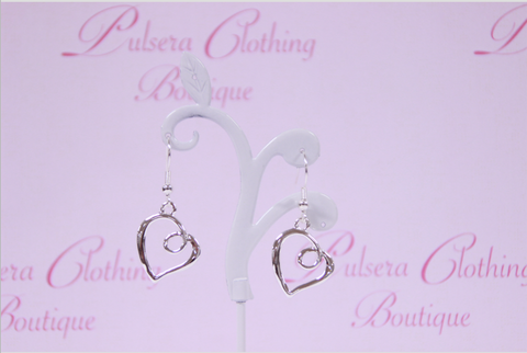 Twisted Heart Earrings