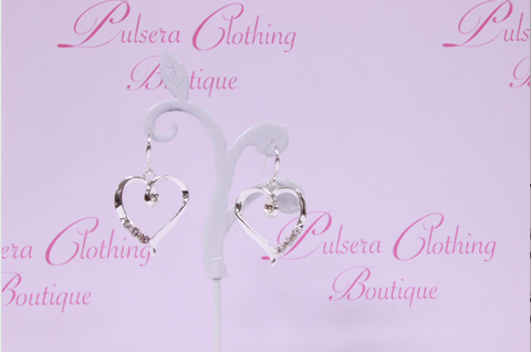 Twisted Heart Diamantes Earrings
