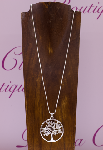 Tree Of Life Necklace Diamante