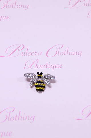Small Diamond Bee Broach