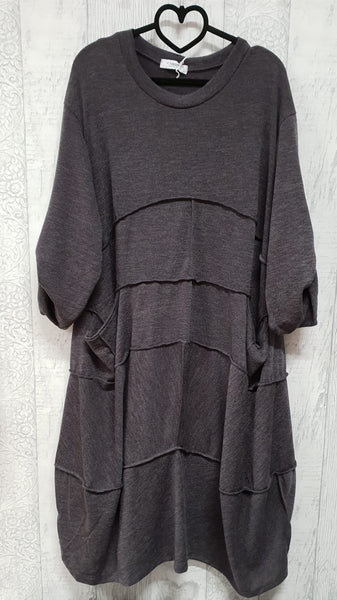 Oversized Seamed Dress