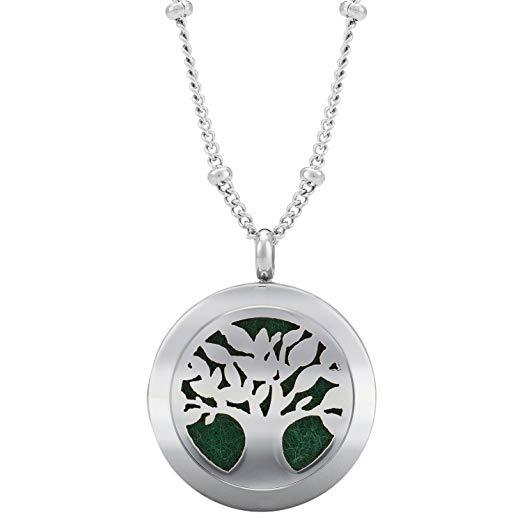 Silver Aromatherapy Pendant for Essential Oils