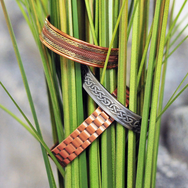 Pewter Copper Magnetic Cuff