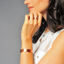 Load image into Gallery viewer, Pure Copper Magnetic Therapy Ring & Bracelet Gift Set