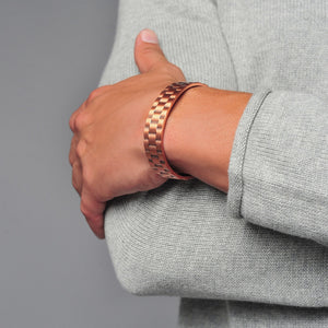 Pure Copper Magnetic Heavyweight Cuff for Men