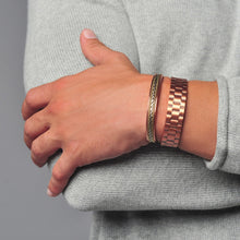 Load image into Gallery viewer, Power Couple Men and Women's Copper Magnetic Bracelets