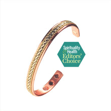 Load image into Gallery viewer, Pure Copper Magnetic Therapy Bracelet with Rope Inlay