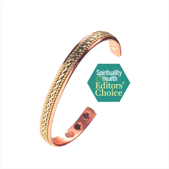 Pure Copper Magnetic Therapy Bracelet with Rope Inlay