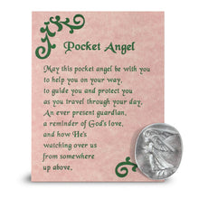 Load image into Gallery viewer, Opalite Guardian Angel Figurines with Serenity Prayer and Pocket Guardian Angel Token Pack for Spiritual Healing