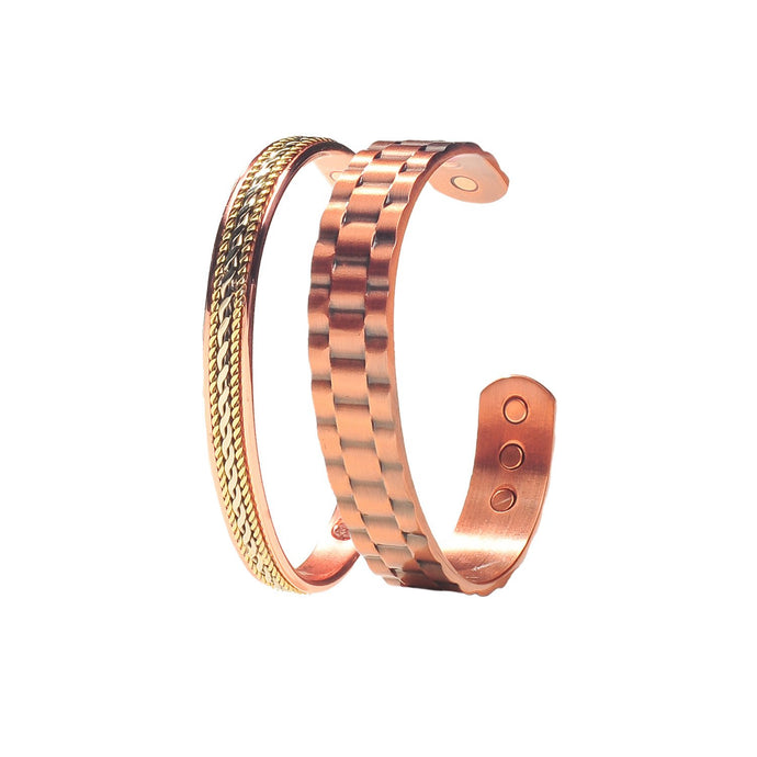 Power Couple Men and Women's Copper Magnetic Bracelets