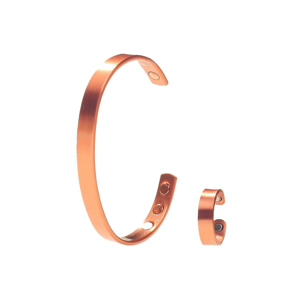 Pure Copper Magnetic Therapy Ring & Bracelet Gift Set