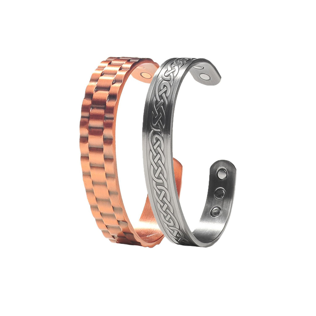 Power Duo Men's Copper Magnetic Bracelets