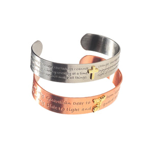 His & Hers Engraved Serenity Bracelet and Guardian Angel Bracelet Set