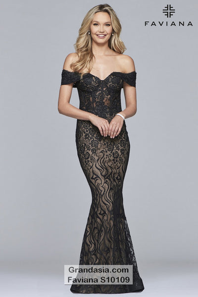Faviana Glamour S10109 Prom Dress