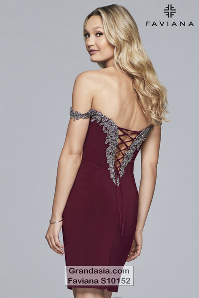 Faviana Glamour S10152 Cocktail Dress