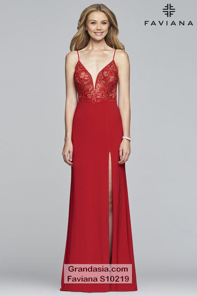 Faviana Glamour S10219 Prom Dress