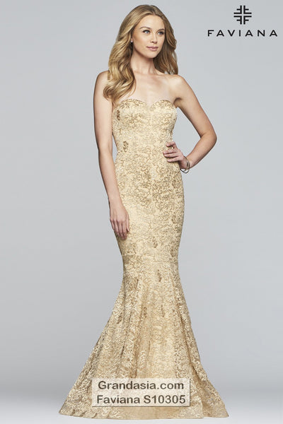 Faviana Glamour S10305 Prom Dress