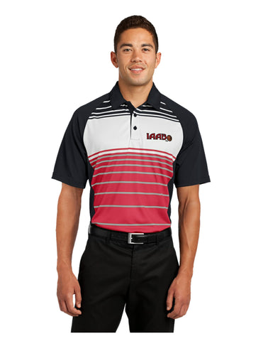 IAABO Sublimated Stripe Polo