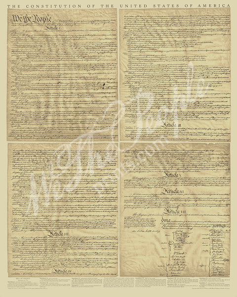 "The Constitution - full size 24"" x 36"""