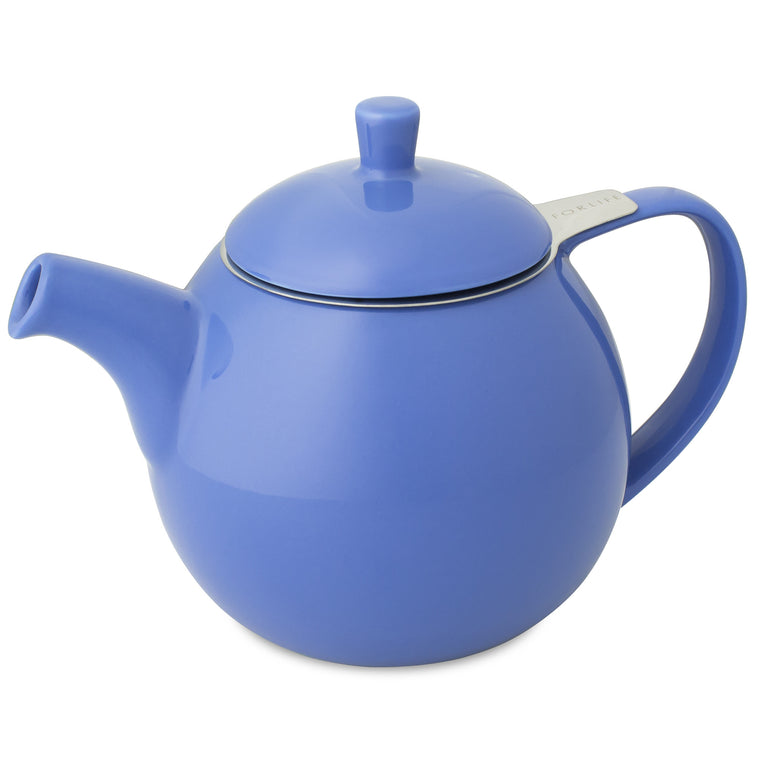 Curve Teapot- Blue - Indigo Tea Co.