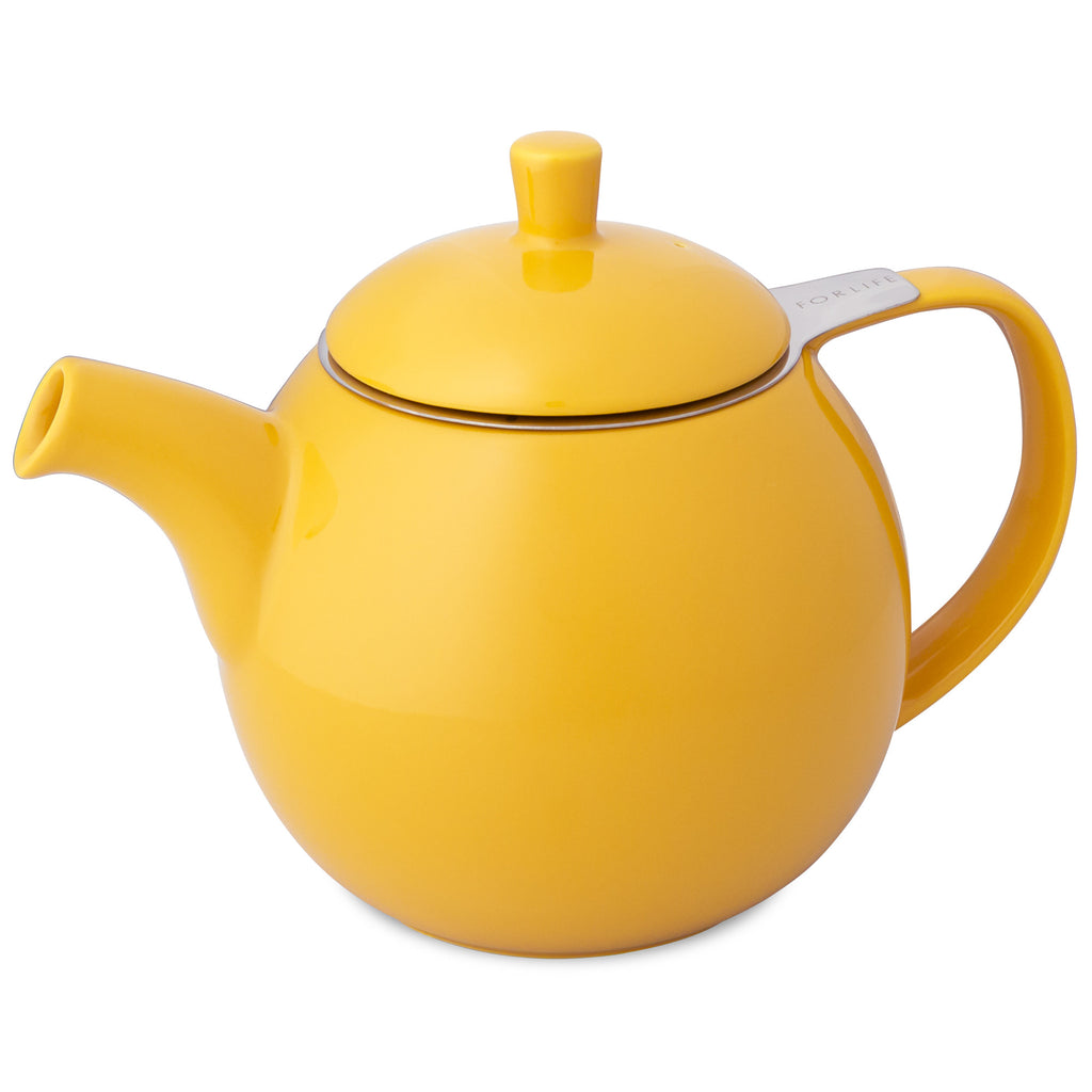Curve Teapot-Yellow - Indigo Tea Co.