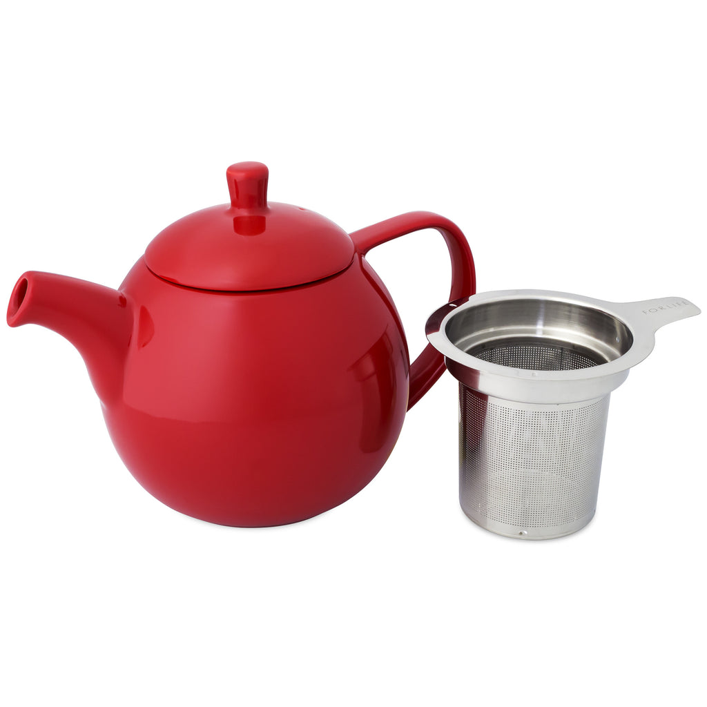 Curve Teapot-Red - Indigo Tea Co.