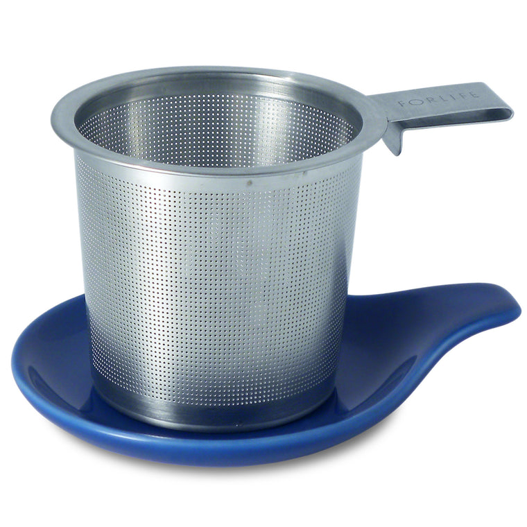 Hook Handle Infuser/Dish (multi colors) - Indigo Tea Co.