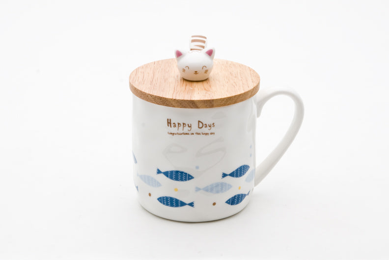 Happy Days Cat Mug - Indigo Tea Co.