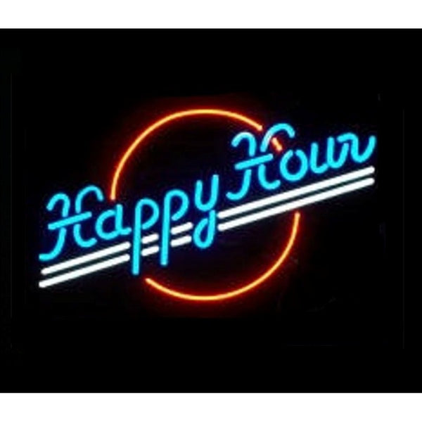 Happy Hour Home Bar Sign Neon Sign - The Beer Lodge