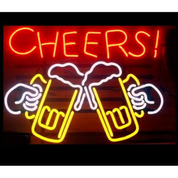 Cheers Draft Beer Neon Home Bar Sign Neon Sign - The Beer Lodge