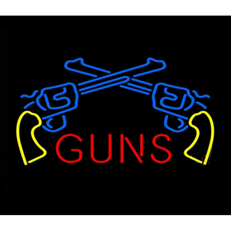 Guns Neon Home Bar Sign Neon Sign - The Beer Lodge