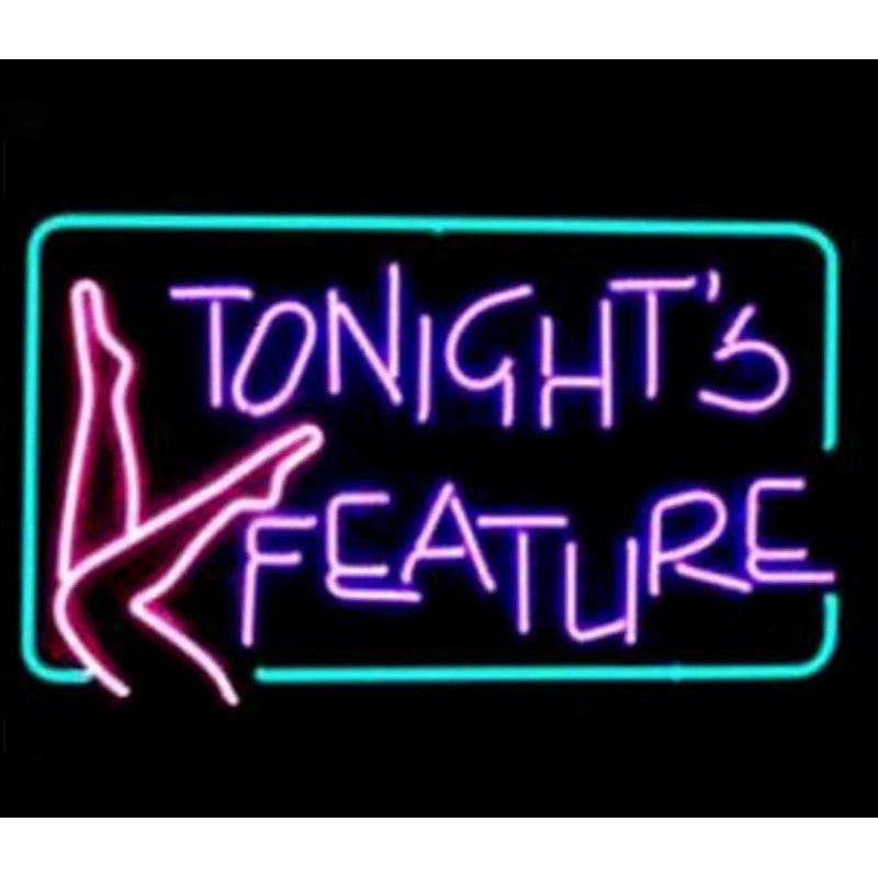 Tonight's Feature Neon Home Bar Sign