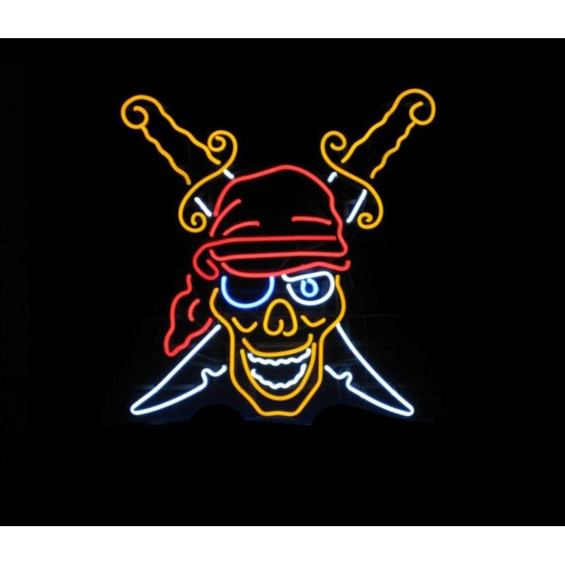 Pirate Neon Home Bar Sign Neon Sign - The Beer Lodge