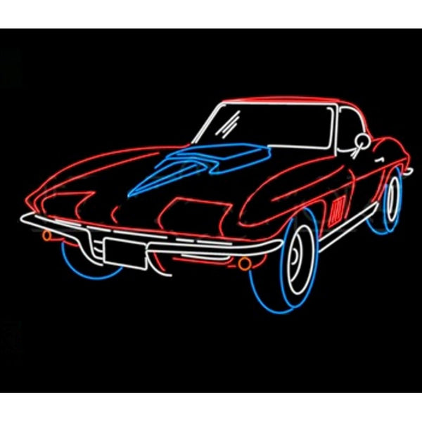 Corvette Stingray Neon Home Bar Sign Neon Sign - The Beer Lodge
