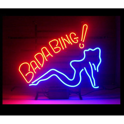 Bada Bing Neon Home Bar Sign Neon Sign - The Beer Lodge