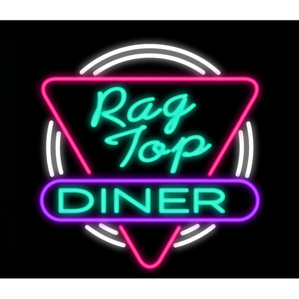 Rag Top Diner Neon Home Bar Sign Neon Sign - The Beer Lodge