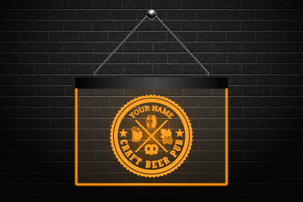 Custom Craft Beer Pub Neon Light Sign (Three Sizes) LED Signs - The Beer Lodge