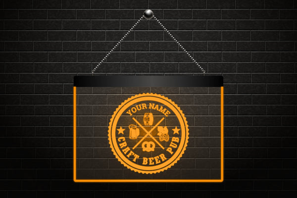Custom Craft Beer Pub Neon Light Sign (Three Sizes) Beer Signs - The Beer Lodge