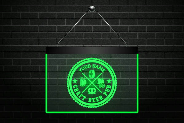 Custom Craft Beer Pub Neon Light Sign (Two Sizes) - The Beer Life