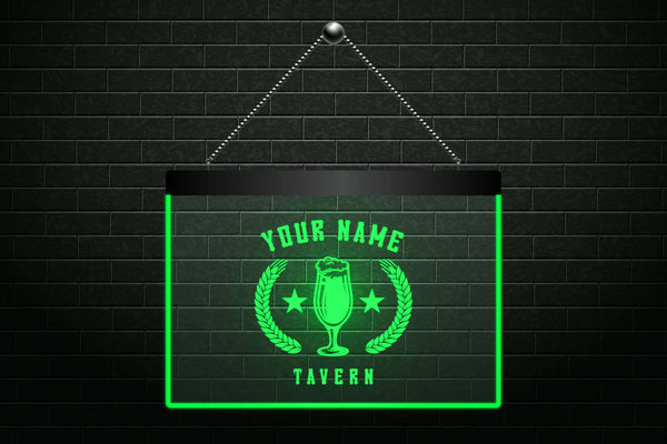 Personalized Tavern Beer Light Sign (Two Sizes) - The Beer Life