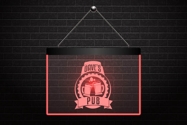 Custom Personalized Beer Mugs Pub Neon Light Sign (Three Sizes) Beer Signs - The Beer Lodge